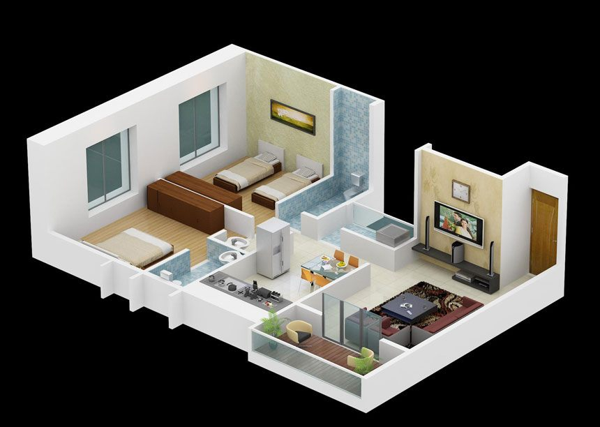 2BHK Cut Section